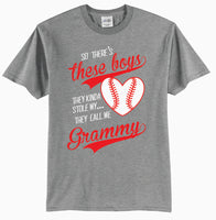 So There's These Boys, They Kinda Stole My Heart, They Call Me Grammy Baseball T-Shirt