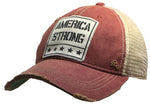 Vintage Life Distressed Trucker Cap - America Strong