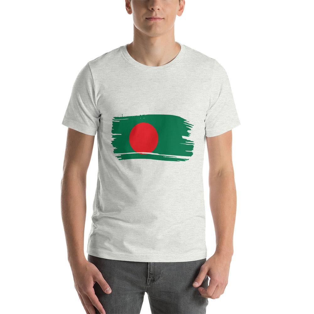 Short-Sleeve Unisex T-Shirt With Bangladesh Flag