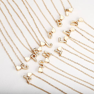 Gold initials name necklaces Personalized pendant for women