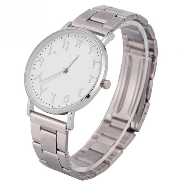 Classic Analogue Arabic Numerals Display Quartz Wrist Watch