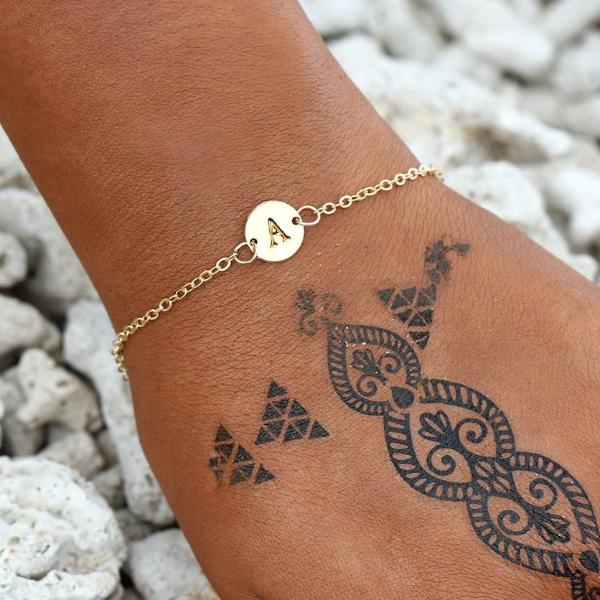 Gold Color Letter Bracelet For Women