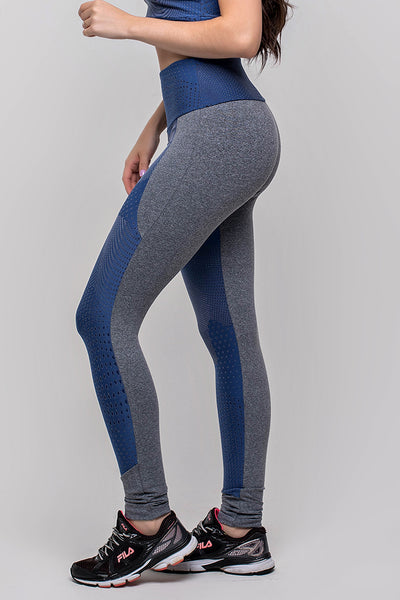 Bottoms Textured Blue Legging - Womens Activewear and Workout Clothes | RomanceUSA
