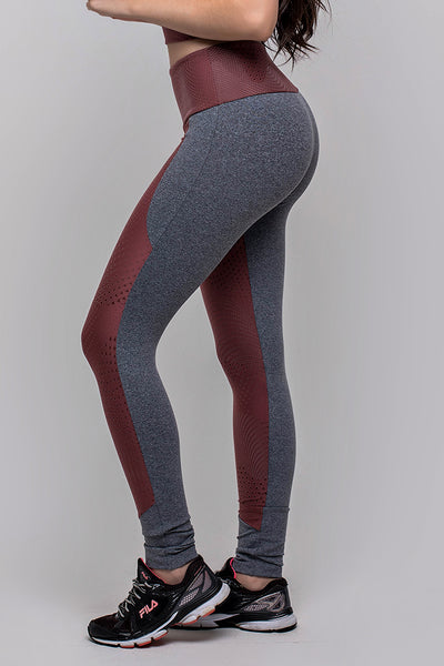 Bottoms Textured Red Legging - Womens Activewear and Workout Clothes | RomanceUSA