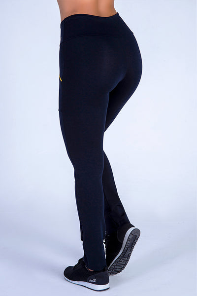 Bottoms Black 2 Zipper Pants - Womens Activewear and Workout Clothes | RomanceUSA