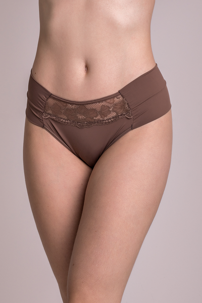 Underwear Brown Hiphugger Thong - Womens Activewear and Workout Clothes | RomanceUSA