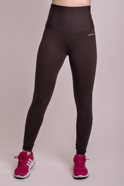 Bottoms Brown High Up Legging - Womens Activewear and Workout Clothes | RomanceUSA