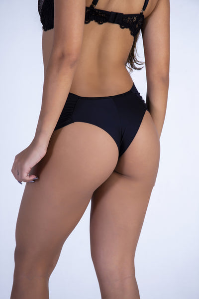 Underwear Black Hiphugger Thong - Womens Activewear and Workout Clothes | RomanceUSA