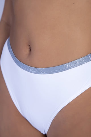 Underwear,White RMC Push-up Bra and Hiphugger Thong