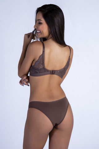 Underwear,Nude Butterfly Back Push-up Bra and Panty