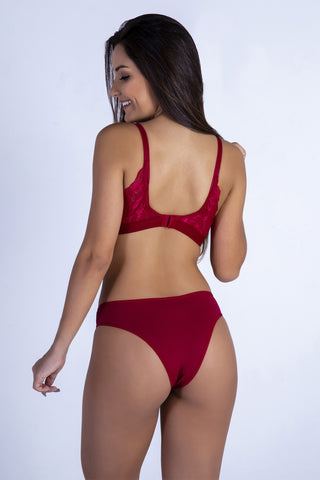 Underwear,Red Butterfly Back Push-up Bra and Panty