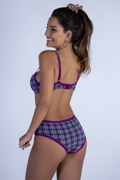 Underwear Checked Cool and Confy Push-up Bra and Panty - Womens Activewear and Workout Clothes | RomanceUSA