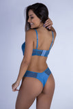 Underwear,Blue Sweetheart Push-up Bra and Thong
