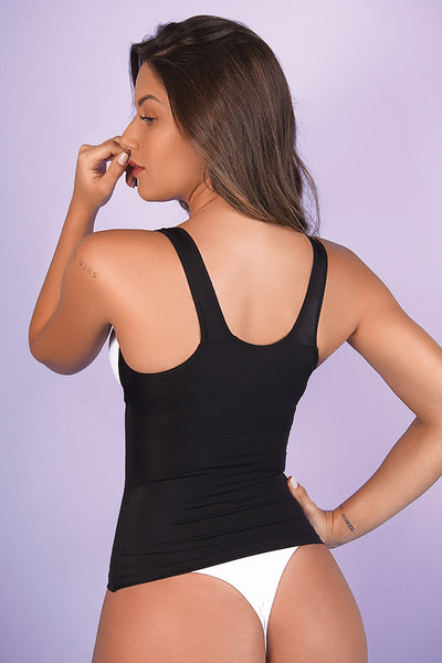 Shapers Pawer Conceal Tummy Open Bust Tank - Womens Activewear and Workout Clothes | RomanceUSA