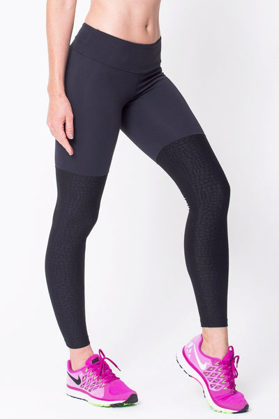 Bottoms Black Crocodille Legging - Womens Activewear and Workout Clothes | RomanceUSA
