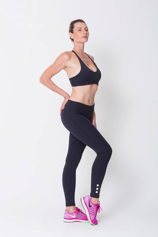 Bottoms,Black Gold Legging