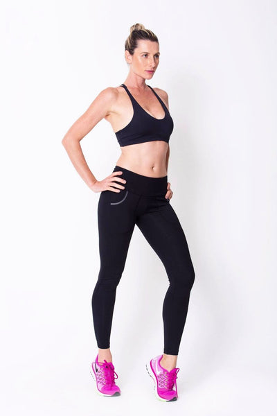 Bottoms Black Pocket Legging - Womens Activewear and Workout Clothes | RomanceUSA