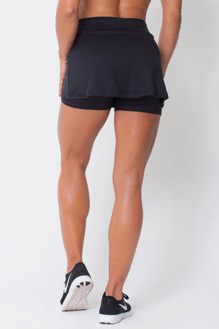Bottoms,Black Skort