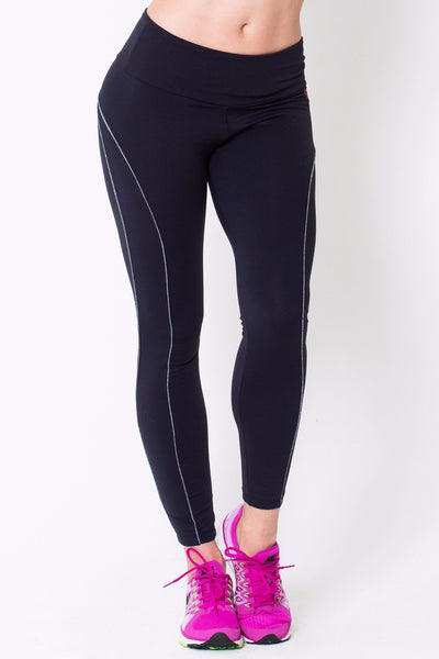 Bottoms Black Viva Legging - Womens Activewear and Workout Clothes | RomanceUSA