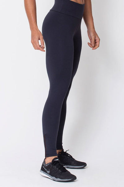 Bottoms Black Zip Up Legging - Womens Activewear and Workout Clothes | RomanceUSA