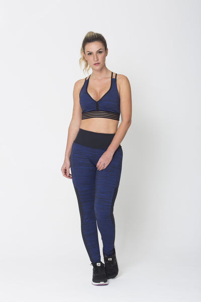 Bottoms Blue Keep Balance Legging - Womens Activewear and Workout Clothes | RomanceUSA