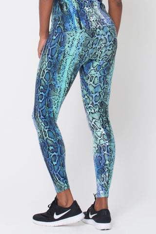 Bottoms,Blue Snake Print