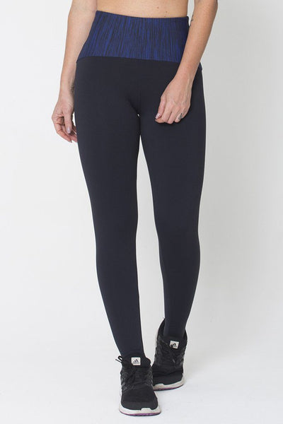 Bottoms Blue Waist Legging - Womens Activewear and Workout Clothes | RomanceUSA