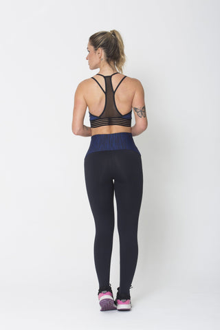 Bottoms,Blue Waist Legging