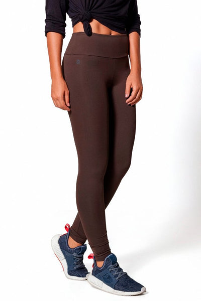Bottoms Brown Basic Legging - Womens Activewear and Workout Clothes | RomanceUSA