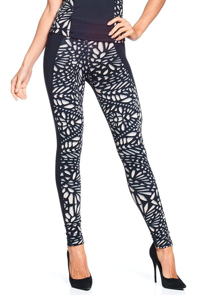 Bottoms Cut Effect Legging - Womens Activewear and Workout Clothes | RomanceUSA