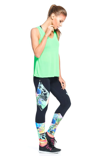 Bottoms Floral Side Print Legging - Womens Activewear and Workout Clothes | RomanceUSA