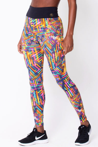 Bottoms Geometric Graphic Print - Womens Activewear and Workout Clothes | RomanceUSA