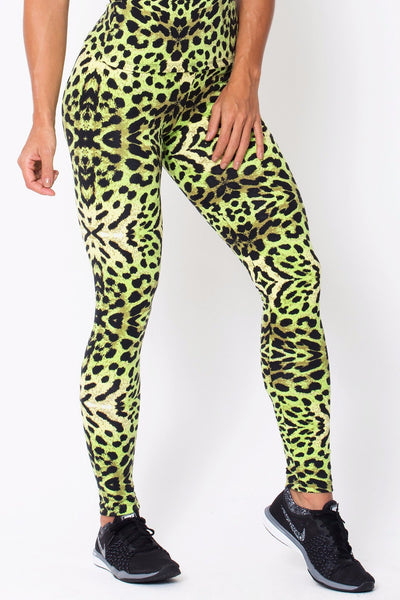 a689eaa1be Bottoms Green Cheetah Print - Womens Activewear and Workout Clothes |  RomanceUSA ...