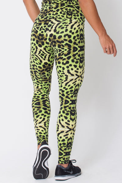 Bottoms Green Cheetah Print - Womens Activewear and Workout Clothes | RomanceUSA