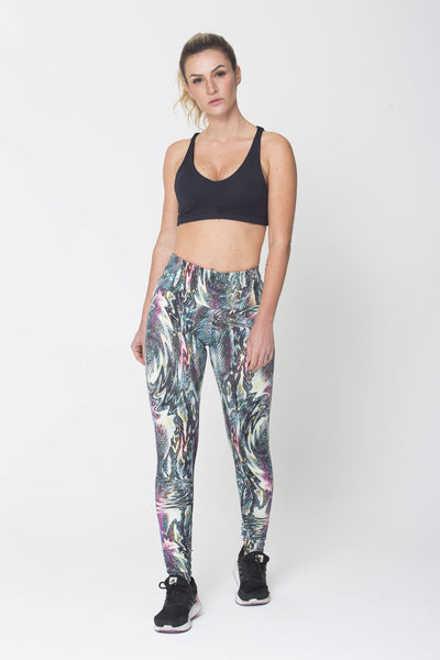 Bottoms Green Snake Print - Womens Activewear and Workout Clothes | RomanceUSA
