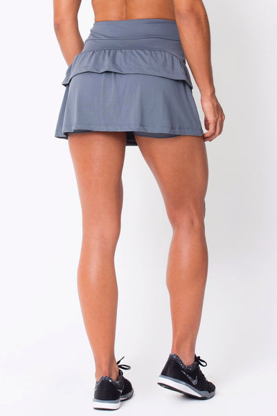 Bottoms Grey	Ruffled Skort - Womens Activewear and Workout Clothes | RomanceUSA