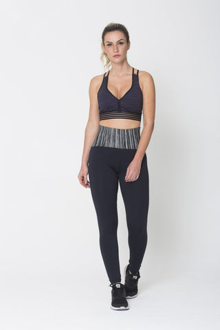 Bottoms,Grey Waist Legging