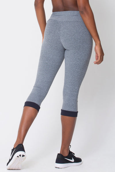 Bottoms Heather Grey Capri - Womens Activewear and Workout Clothes | RomanceUSA