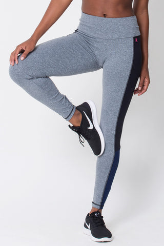 Bottoms,Heather Grey Contrast Legging