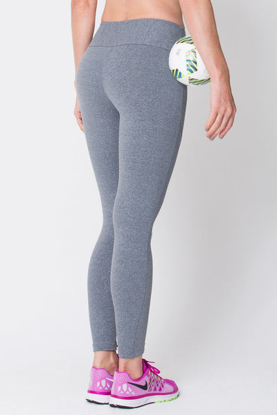 Bottoms Heather Grey Riding Seam Legging - Womens Activewear and Workout Clothes | RomanceUSA
