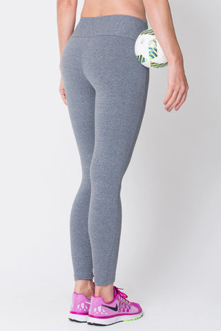 Bottoms,Heather Grey Riding Seam Legging