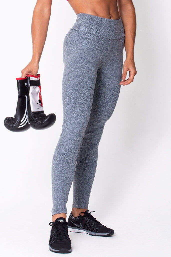 Bottoms,Heather Grey Zip Up Legging