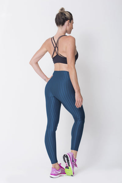 Bottoms Navy 3D Disco Leggings - Womens Activewear and Workout Clothes | RomanceUSA