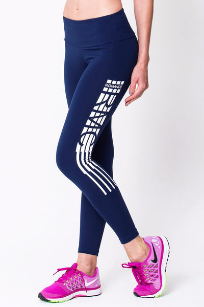 Bottoms Navy Blue RMC Legging - Womens Activewear and Workout Clothes | RomanceUSA