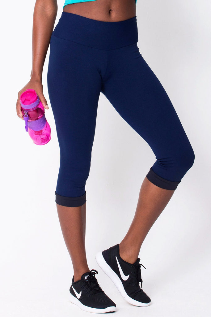 Bottoms,Navy Capri
