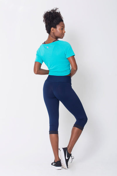 Bottoms Navy Capri - Womens Activewear and Workout Clothes | RomanceUSA