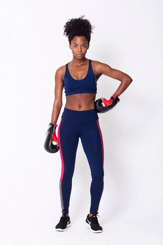 Bottoms,Navy Contrast Legging