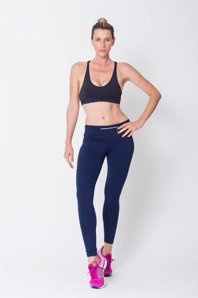 Bottoms Navy Essential Legging - Womens Activewear and Workout Clothes | RomanceUSA