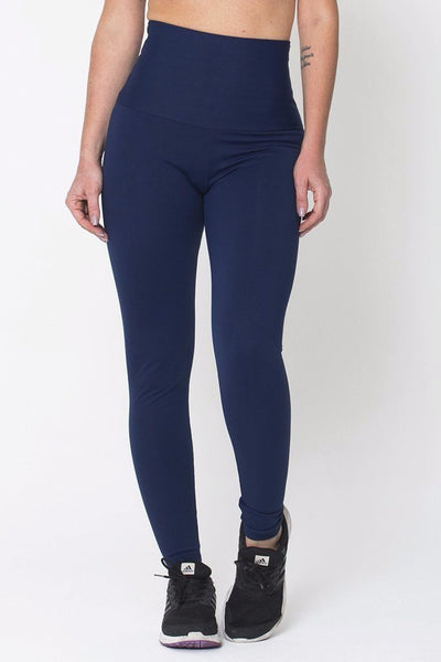 Bottoms Navy High Up Legging - Womens Activewear and Workout Clothes | RomanceUSA