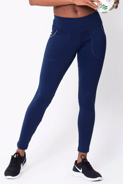 Bottoms Navy Pocket Legging - Womens Activewear and Workout Clothes | RomanceUSA